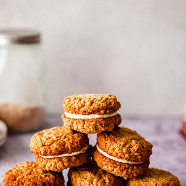 Cookies avoines et à la crème