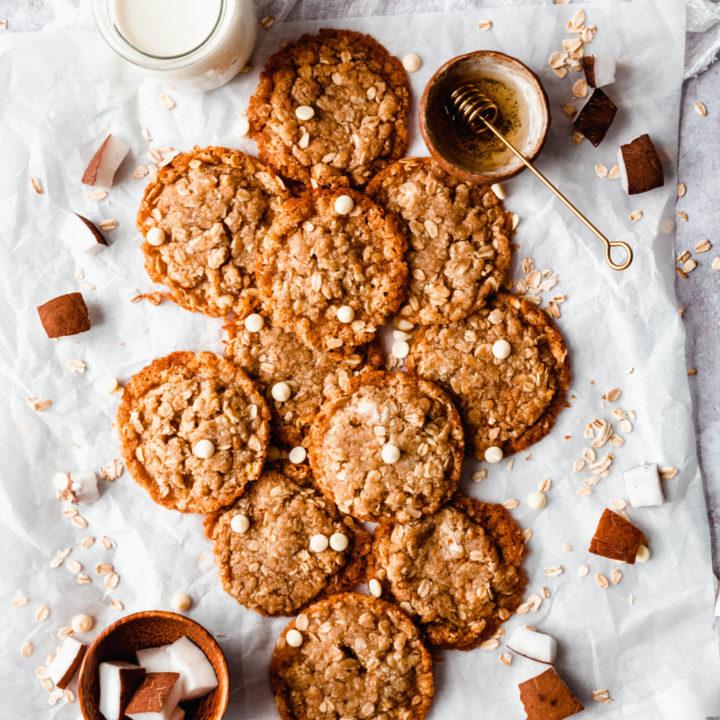 Cookies anzac avoines et coco