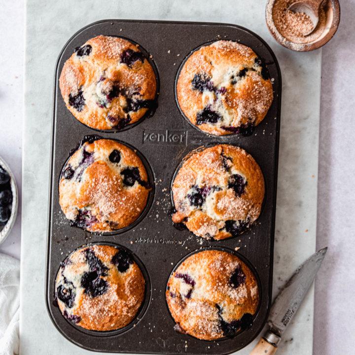 Muffins myrtilles chocolat blanc