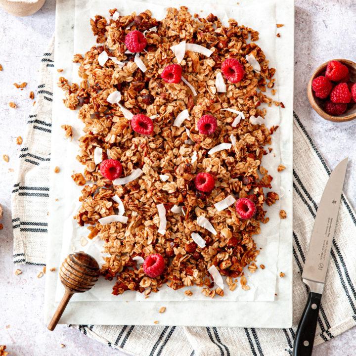 Granola amandes, noisettes et coco