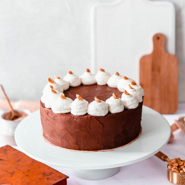 Layer cake chocolat beurre de cacahuètes